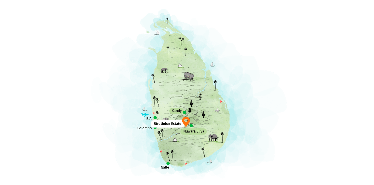 Location map of Strathdon by Jetwing