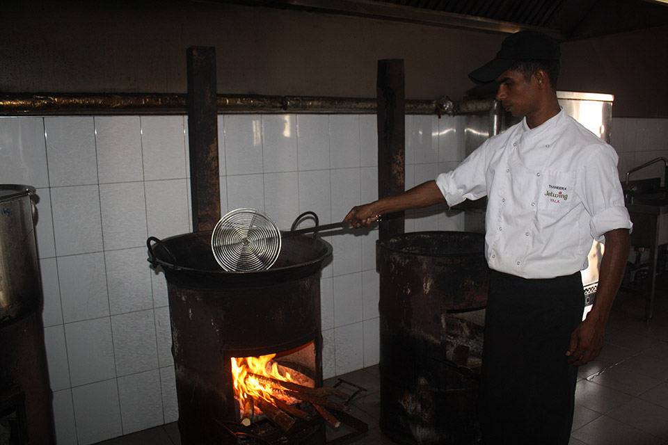 Biomass Stove at Jetwing Yala