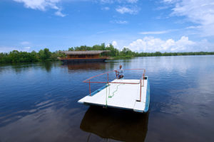 canoe ride in the lake