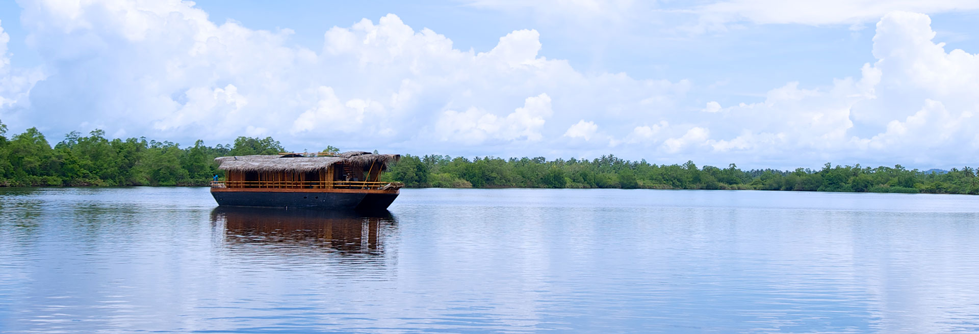 scenic view of the boathouse on the bentota river
